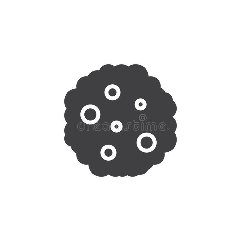 Значок вектора печенья обломока шоколада иллюстрация штока