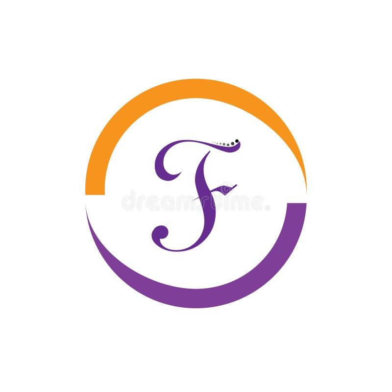 Значок вектора письма f иллюстрация вектора