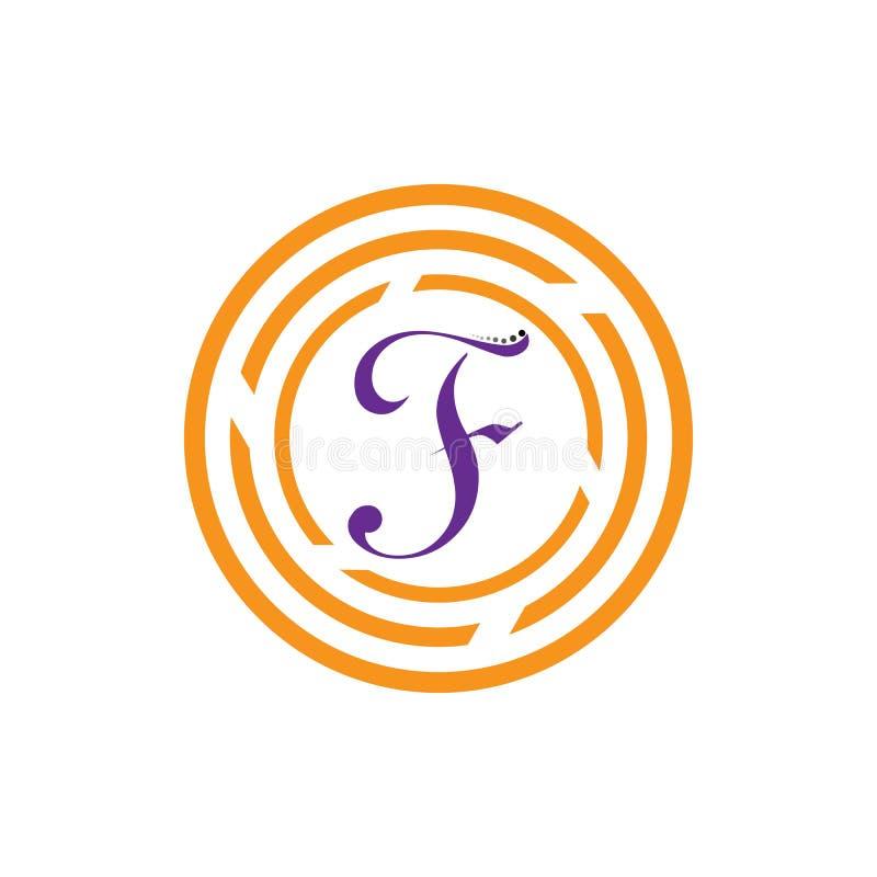 Значок вектора письма f бесплатная иллюстрация