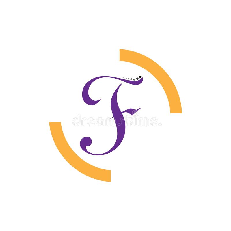 Значок вектора письма f иллюстрация штока