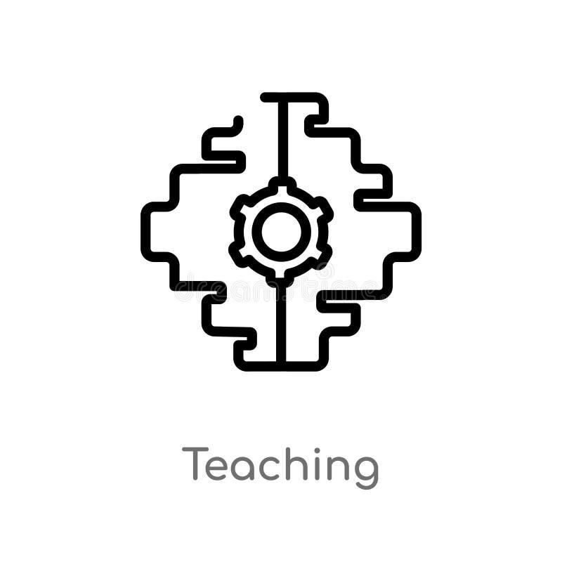 значок вектора плана уча изолированная черная простая линия иллюстрация элемента от концепции искусственного интеллекта editable иллюстрация штока