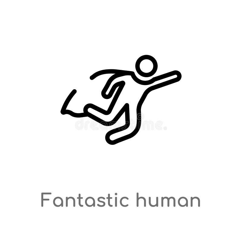значок вектора плана фантастический человеческий изолированная черная простая линия иллюстрация элемента от концепции чувств edit бесплатная иллюстрация