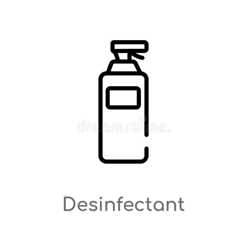 значок вектора плана desinfectant изолированная черная простая линия иллюстрация элемента от здоровья и медицинской концепции edi иллюстрация вектора