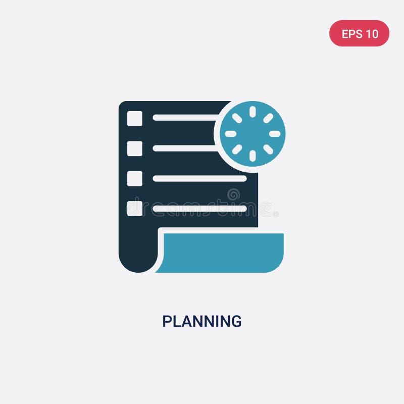 Значок вектора планирования 2 цветов от концепции успеха изолированный голубой планируя символ знака вектора может быть пользой д бесплатная иллюстрация