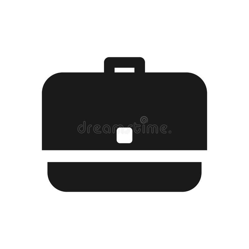 Значок вектора портфеля Иллюстрация вектора портфеля дела иллюстрация штока