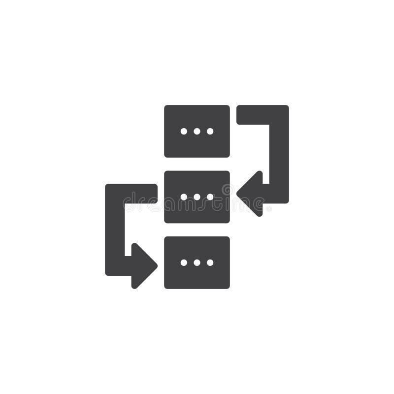 Значок вектора потока операций иллюстрация вектора