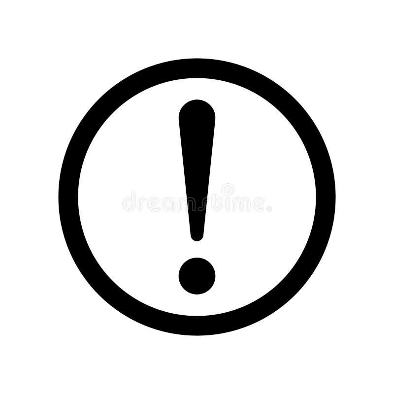 Значок вектора предупредительного знака бесплатная иллюстрация