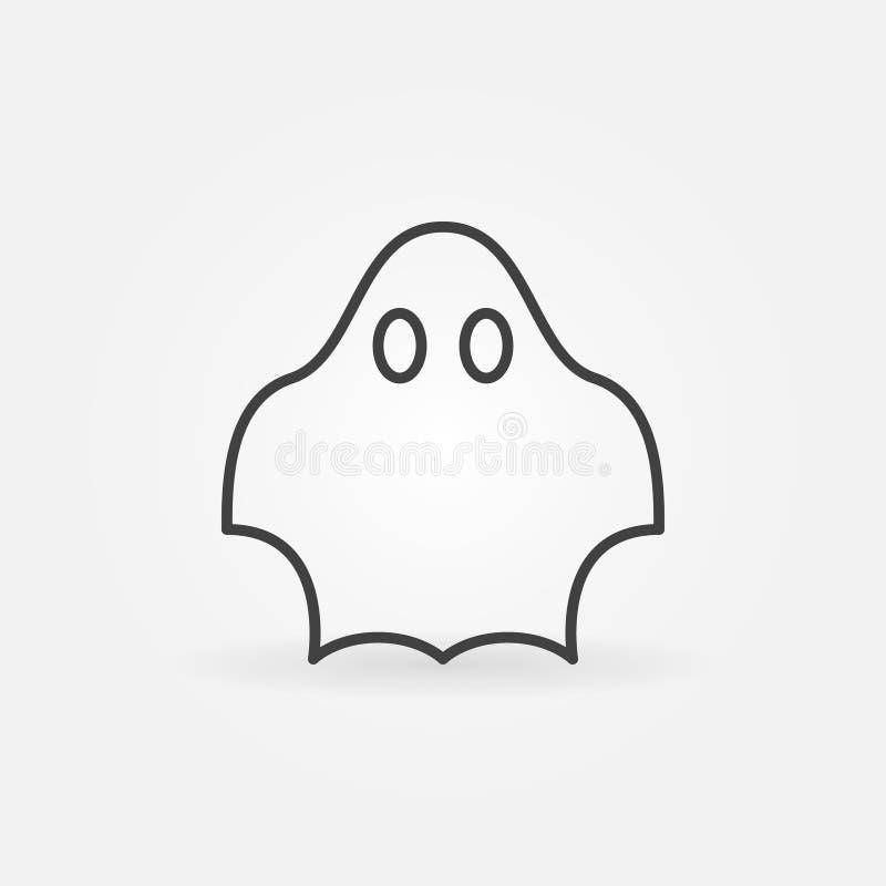 Значок вектора призрака иллюстрация штока
