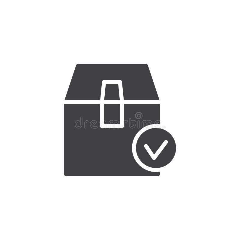 Значок вектора проверки коробки пакета бесплатная иллюстрация