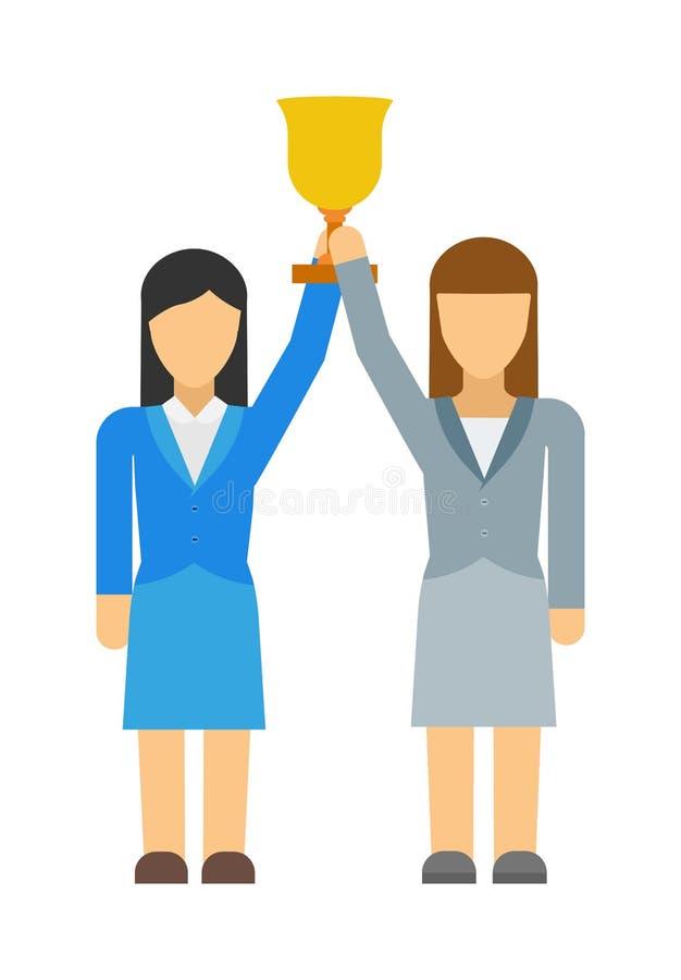 Значок вектора плоский делового сообщества женщин феминистов бесплатная иллюстрация