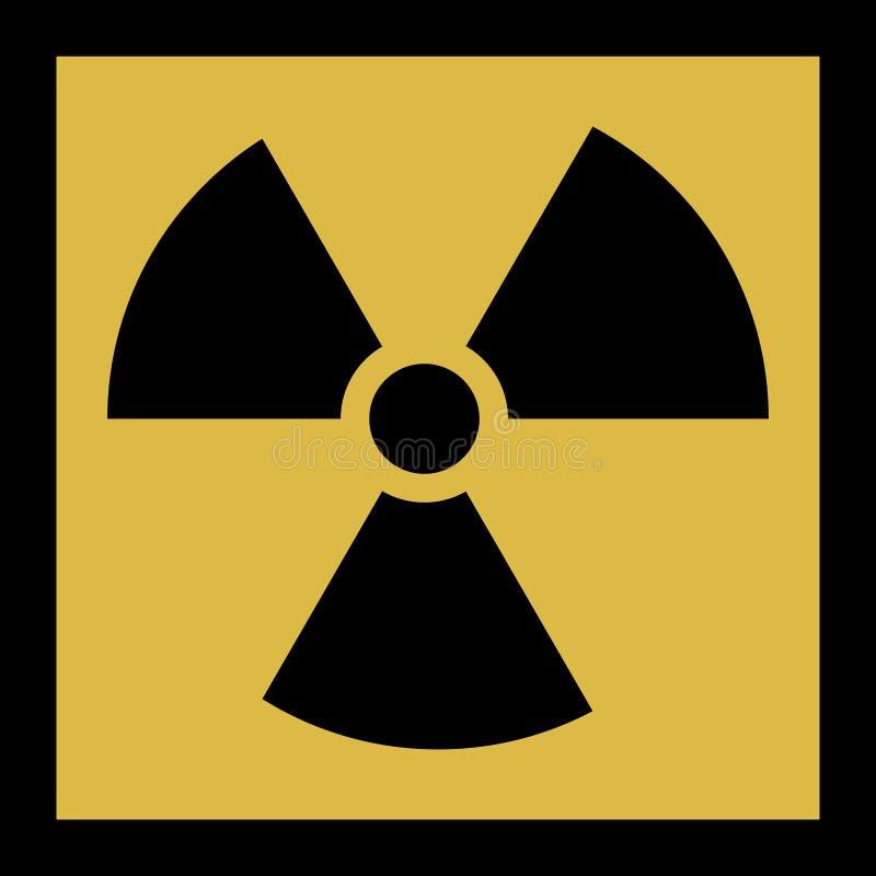 Значок вектора радиации Символ радиации бесплатная иллюстрация