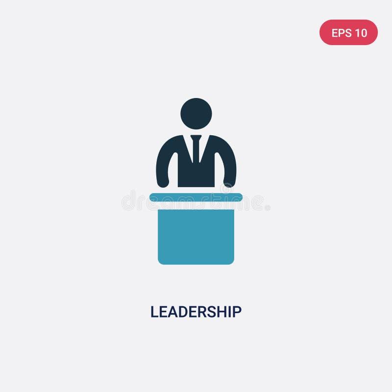 Значок вектора руководства 2 цветов от концепции навыков людей изолированный голубой символ знака вектора руководства может быть  иллюстрация вектора