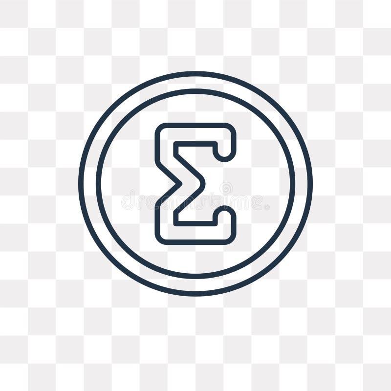 Значок вектора сигмы изолированный на прозрачной предпосылке, линейном Sig бесплатная иллюстрация