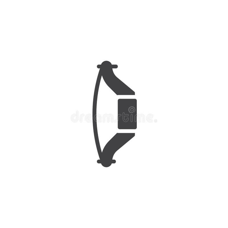 Значок вектора смычка Archery иллюстрация штока