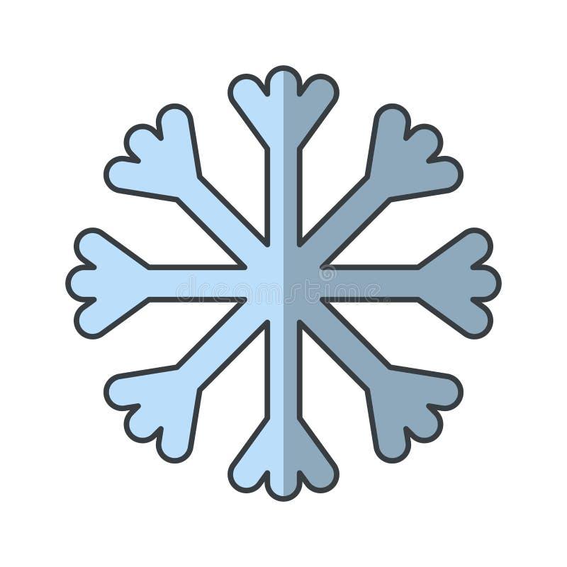 Значок вектора снега бесплатная иллюстрация