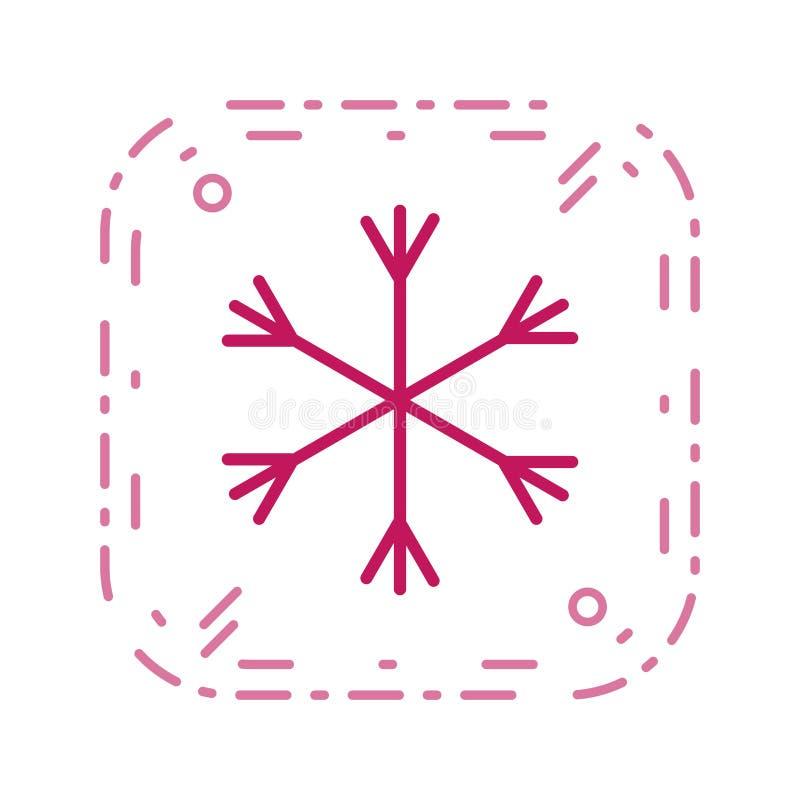 Значок вектора снега иллюстрация вектора