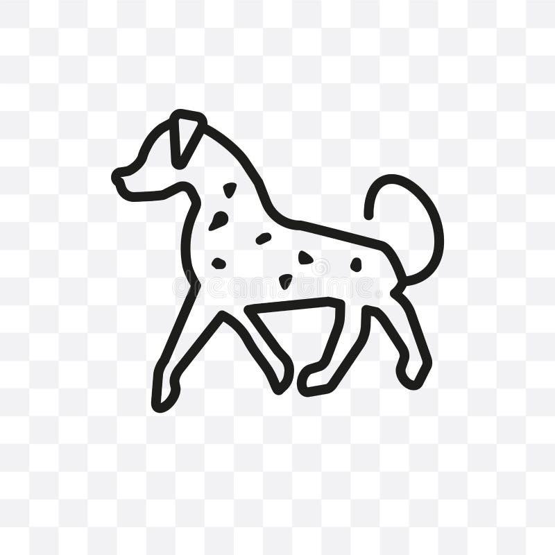 Значок вектора собаки Spaniel поля линейный изолированный на прозрачной предпосылке, концепции транспарентности собаки Spaniel по иллюстрация вектора