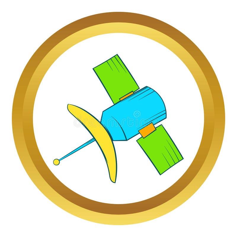 Значок вектора спутниковой связи, стиль шаржа иллюстрация штока