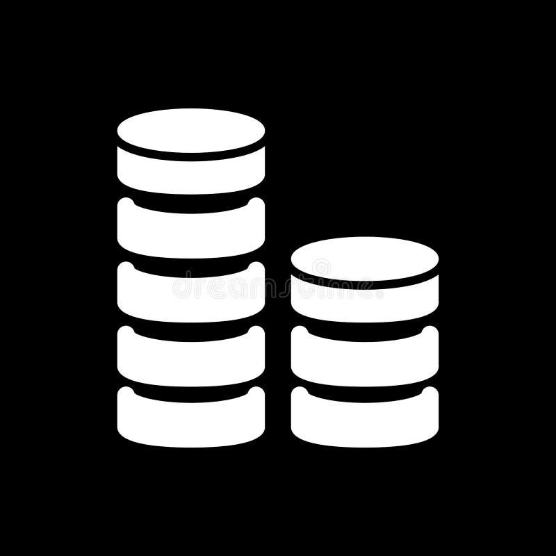 Значок вектора стога монетки Черно-белая иллюстрация денег Твердый линейный значок финансов бесплатная иллюстрация