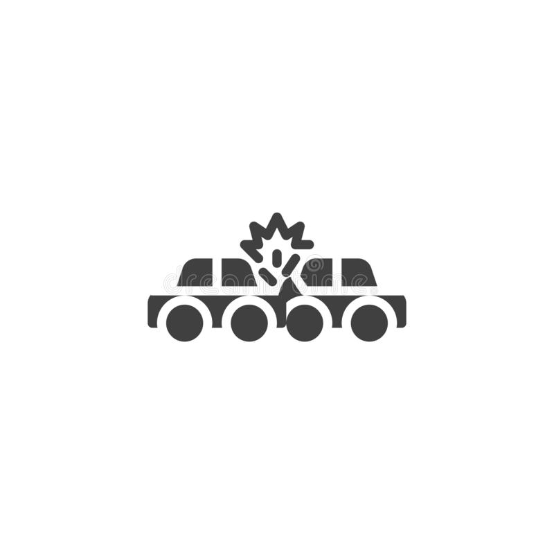 Значок вектора страхования от дорожно-транспортных происшествий иллюстрация вектора