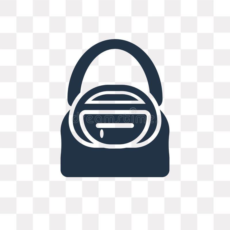 Значок вектора сумки Hobo изолированный на прозрачной предпосылке, ба Hobo иллюстрация вектора
