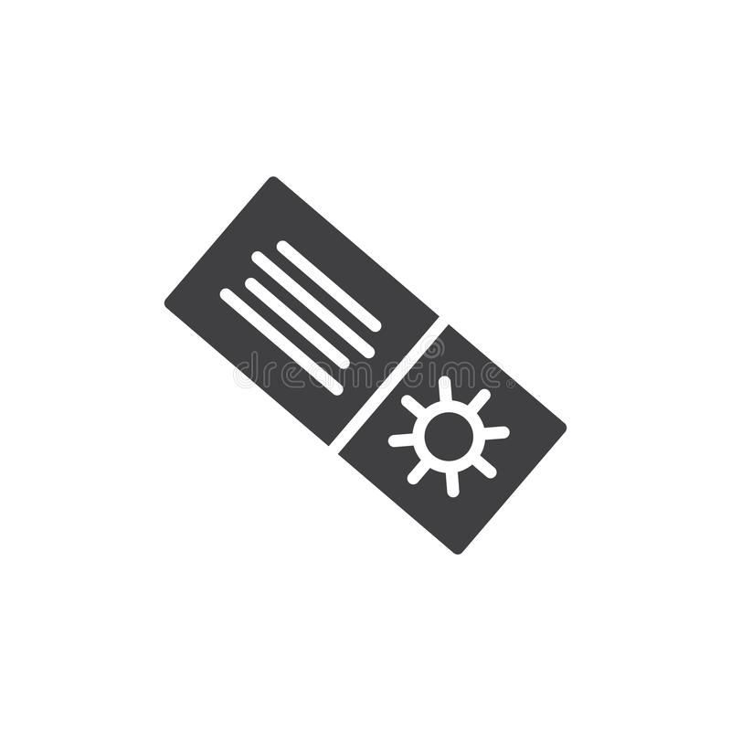 Значок вектора талона покупок лета иллюстрация вектора