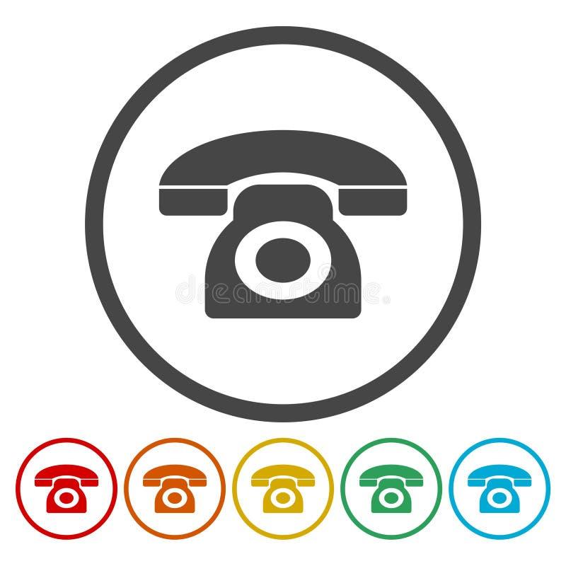 Значок вектора телефонного звонка Стиль плоско округленный символ бесплатная иллюстрация