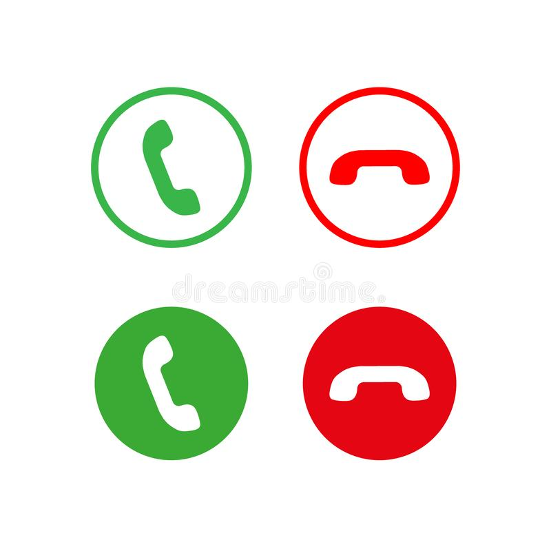 Значок вектора телефонного звонка  иллюстрация штока