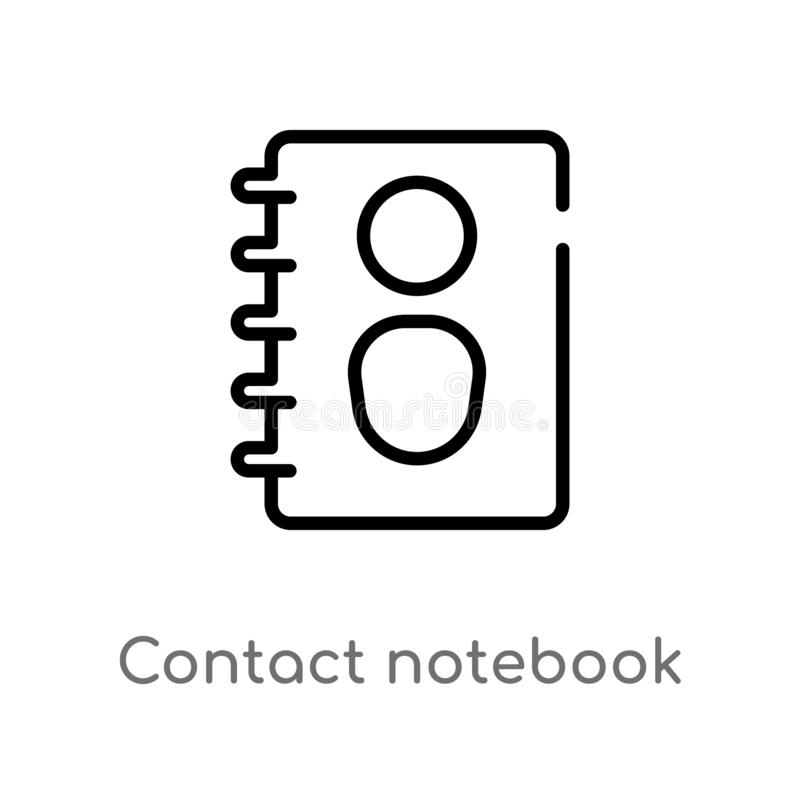 значок вектора тетради контакта плана r r иллюстрация штока