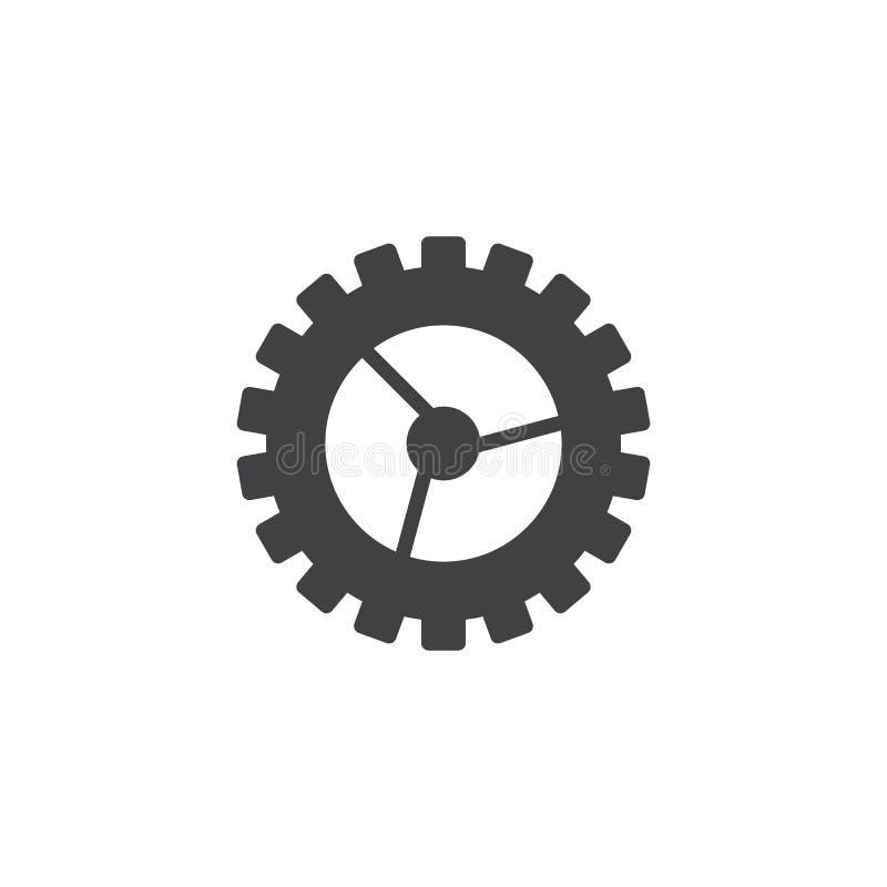 Значок вектора установок шестерни иллюстрация штока