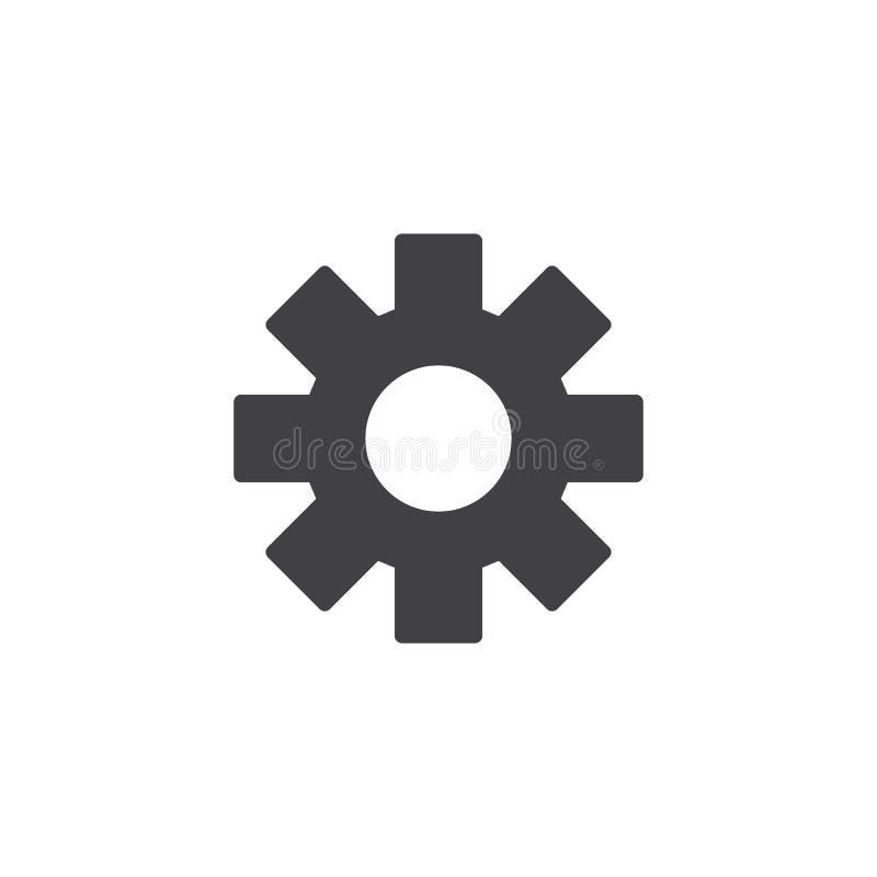 Значок вектора установок шестерни иллюстрация вектора