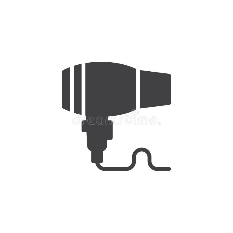Значок вектора фена для волос иллюстрация штока