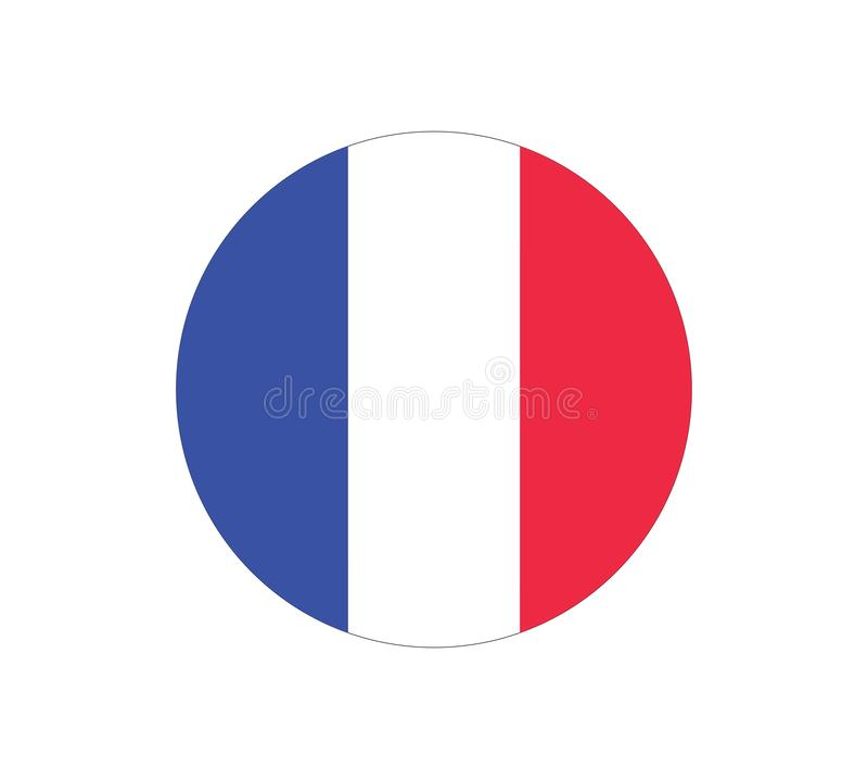Значок вектора флага Франции флаг Франция игра футбола кубка мира иллюстрация вектора