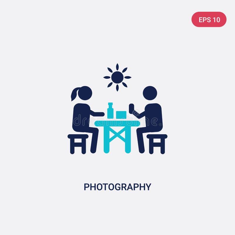 значок вектора фотографии цвета 2 от концепции мероприятий на свежем воздухе изолированный голубой символ знака вектора фотографи иллюстрация вектора