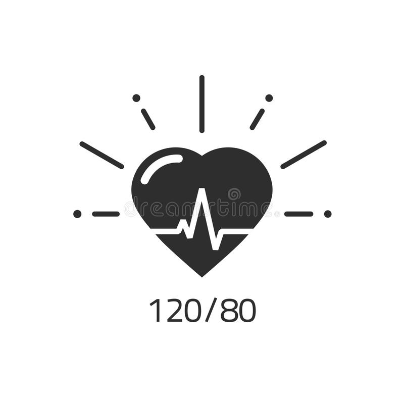 Значок вектора хороших здоровий, кровяное давление нумерует cardiogram ИМПа ульс сердца бесплатная иллюстрация