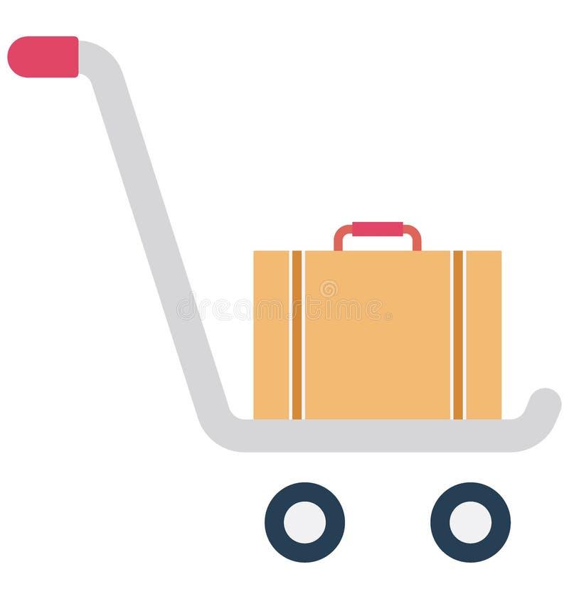 Значок вектора цвета багажа c багажа который может легко доработать или значок вектора editolor который может легко доработать ил иллюстрация вектора