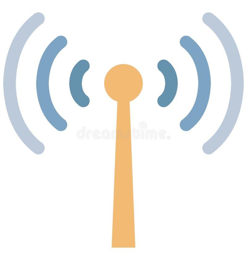Значок вектора цвета башни Wifi который может легко доработать или отредактировать иллюстрация вектора