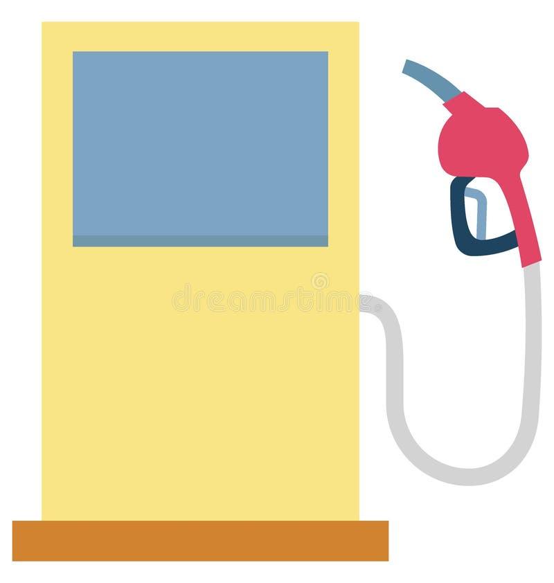 Значок вектора цвета бензоколонки который может легко доработать или отредактировать иллюстрация штока