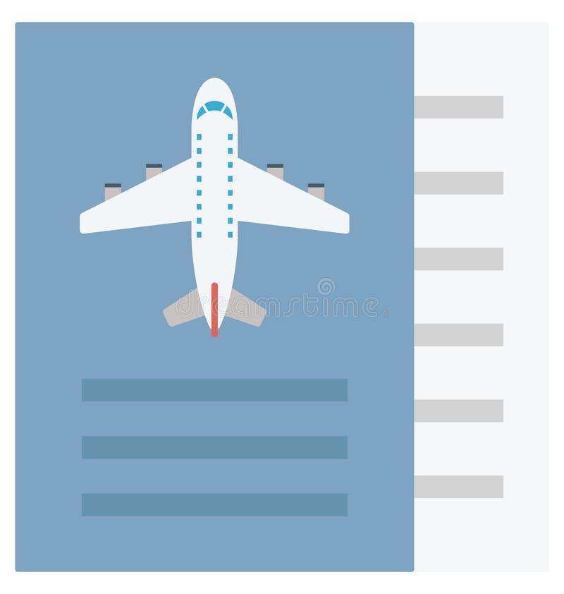 Значок вектора цвета билета который может легко доработать или отредактировать иллюстрация штока