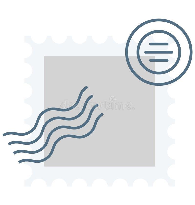 Значок вектора цвета билета столба который может легко доработать или отредактировать иллюстрация вектора