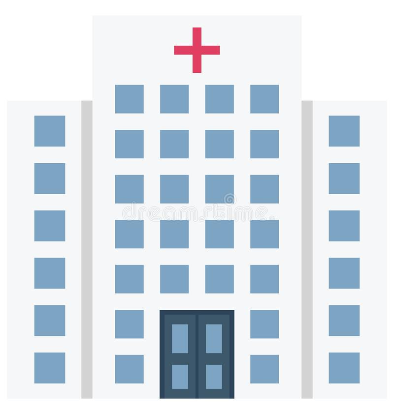Значок вектора цвета больницы который может легко доработать или отредактировать иллюстрация штока