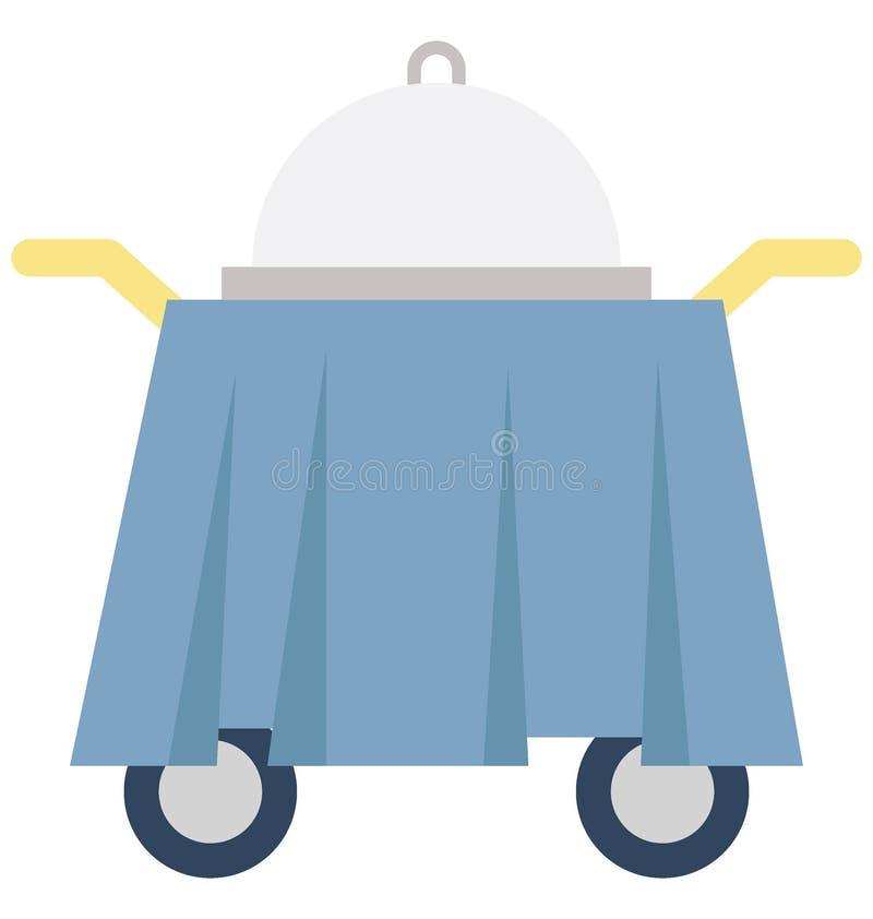 Значок вектора цвета вагонетки еды который может легко доработать или отредактировать бесплатная иллюстрация