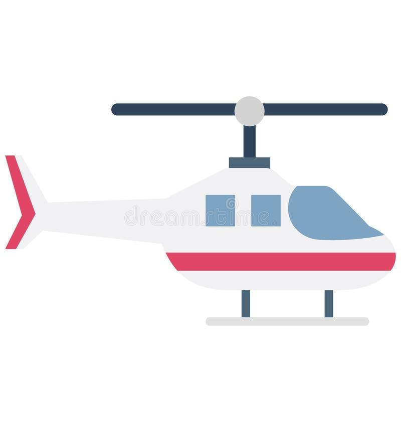 Значок вектора цвета вертолета который может легко доработать или отредактировать бесплатная иллюстрация
