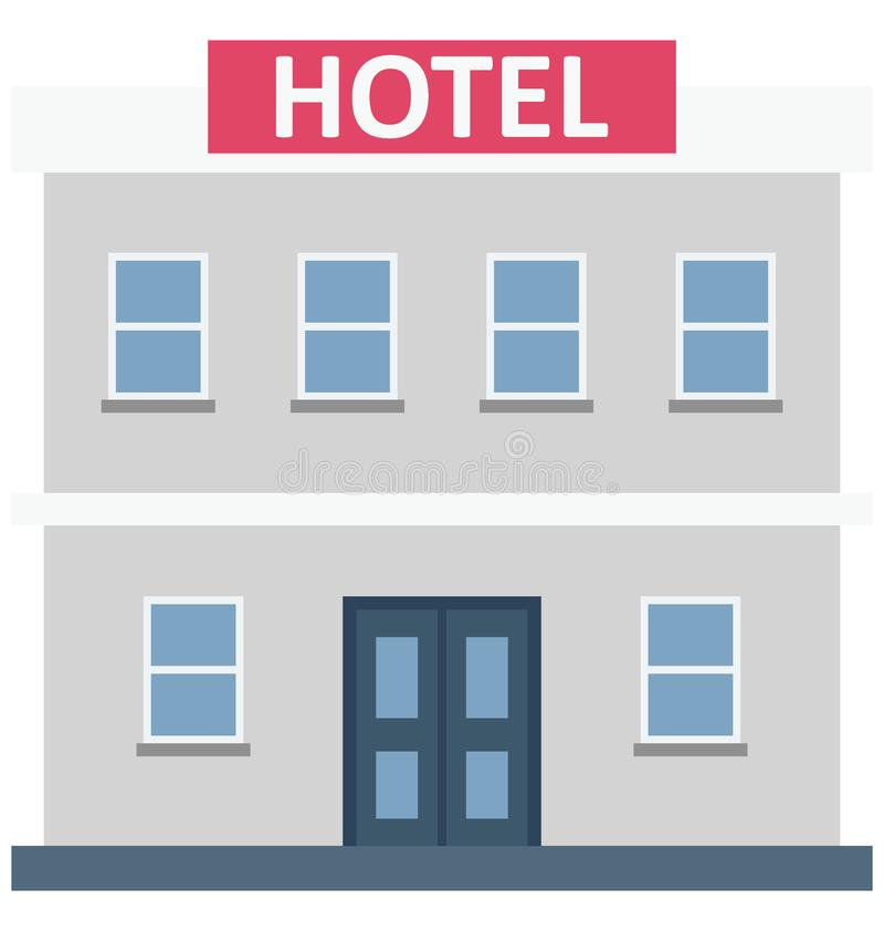 Значок вектора цвета гостиницы строя который может легко доработать или отредактировать бесплатная иллюстрация