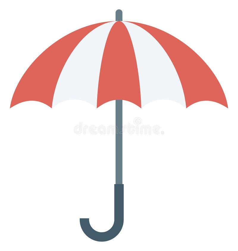 Значок вектора цвета зонтика пляжа который может легко доработать или отредактировать иллюстрация штока