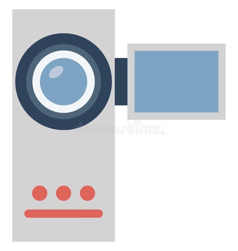 Значок вектора цвета камкордера который может легко доработать или отредактировать иллюстрация штока