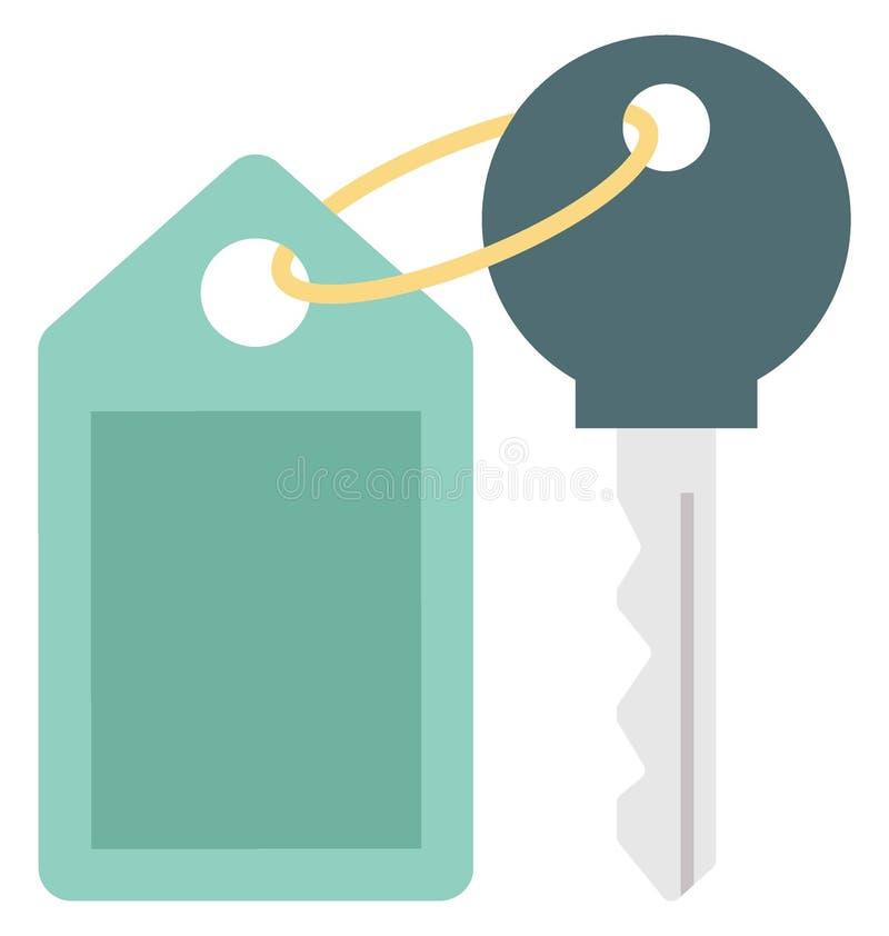 Значок вектора цвета ключа от номера который может легко доработать или отредактировать иллюстрация штока