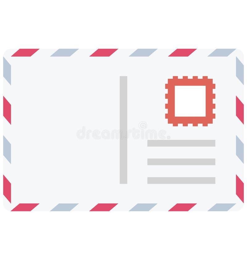 Значок вектора цвета конверта который может легко доработать или отредактировать бесплатная иллюстрация