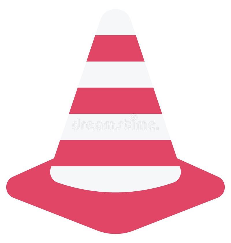 Значок вектора цвета конуса движения который может легко доработать или отредактировать иллюстрация штока