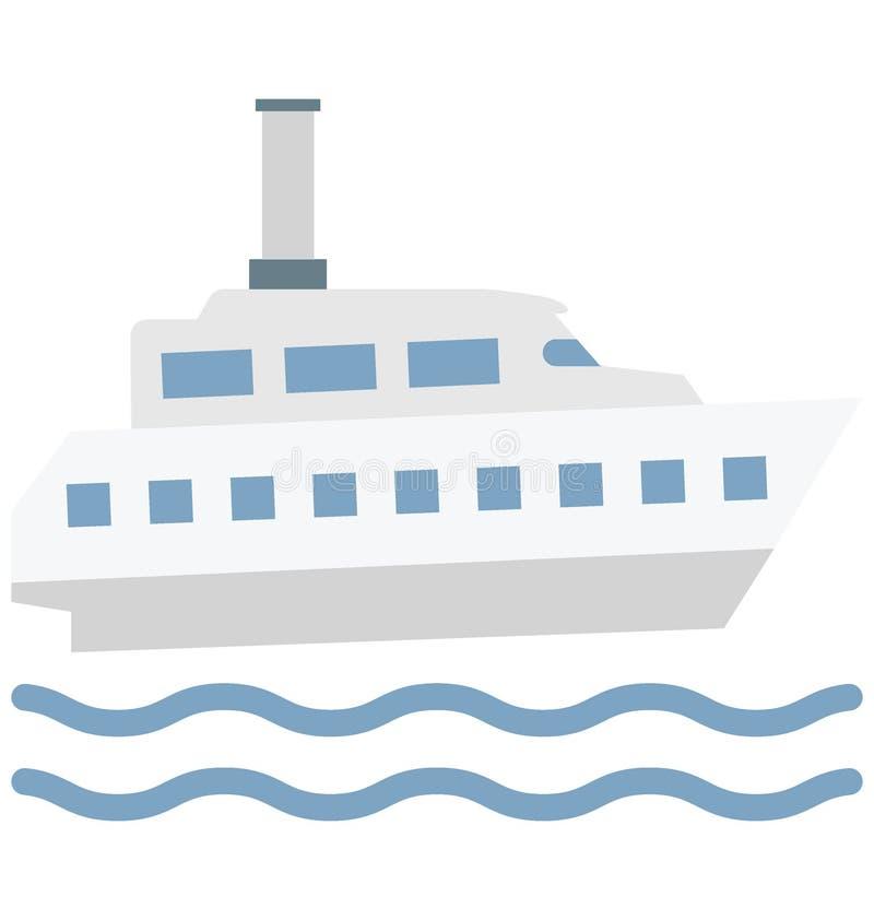 Значок вектора цвета корабля который может легко доработать или отредактировать иллюстрация вектора